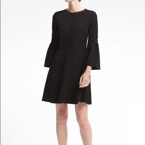 Banana Republic Black Fit and Flare Dress NWT